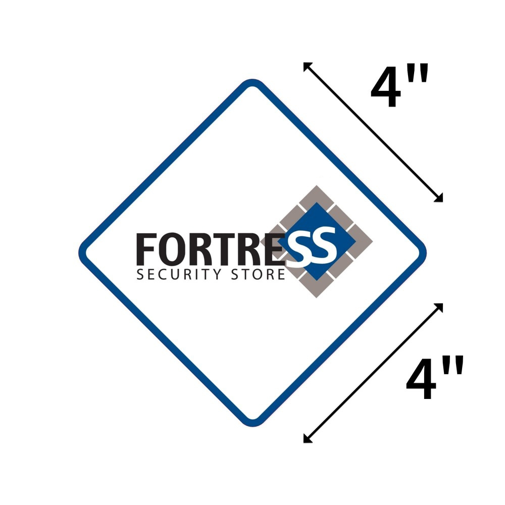 Fortress Window Sticker (Pack of 4 - Weather Resistant Vinyl with Adhesive Backing)