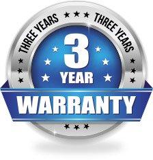 3 Year Warranty